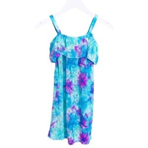 JUSTICE Tie-Dye Swim Cover Up Dress Purple Girl 12